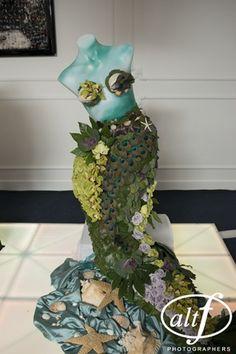 mermaid created from flowers