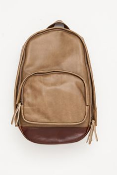 Hands Off! 15 Chic Backpacks Every S.F.'er Needs! #refinery29 http://www.refinery29.com/41525#slide10 Haerfest Taupe/Burnt Umber Combo Backpack, $552, available at Acrimony.