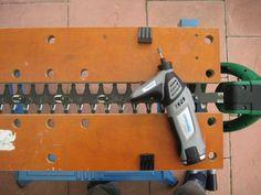 Schärfen einer elektrischen Heckenschere! Bauanleitung zum...