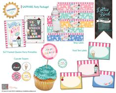 One of my FAVORITES! We all scream for ice cream!!! Retro Ice Cream Truck Birthday COMPLETE PARTY PACKAGE! It's the cherry on top! Contact Laura at {Lottie Bird} for more custom keepsake designs!