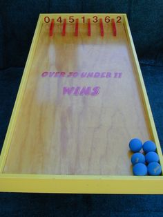 over under game we can play this on the carpet ball table