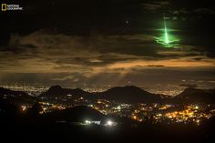 A photographer has captured the moment a meteor burnt up over the sky in India in a stunning picture that was captured completely by accident.   Prasenjeet Yadav had set up his camera to take timelapse pictures of India's sky island – mountain peaks that rise above the skyline in the south of the country – when he captured this instead.