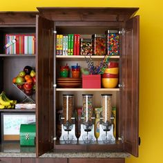 An Organized Breakfast Cabinet Station Cereal dispensers so cool!