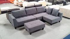 2015 New multifunction sectional sofa dark grey microfiber S160G