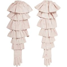 Rodarte Ruffle Gloves ($2,130) ❤ liked on Polyvore featuring accessories, gloves, ruffle gloves, real leather gloves, rodarte and leather gloves