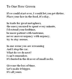 "Poem: ""To One Now Grown"" by Naomi Shahib Nye"