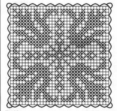 Patterns and motifs: Crocheted motif no. Crochet Squares, Crochet Motif, Crochet Doilies, Crochet Patterns, Filet Crochet Charts, Crochet Tablecloth, Needlework, Cross Stitch, Embroidery
