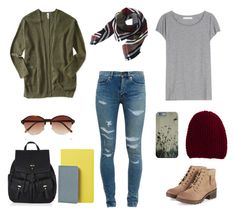 Junior year by ambertasticc on polyvore; Third outfit of four, inspiration for first day back to school outfits.