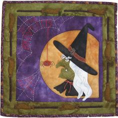 """If the Broom Fits"", 14 x 14"", kit plus pattern at Lily Anna Stitches"