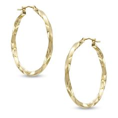 SHINE BABY SHINE! These 30mm Square Twist Hoops come in 14K #Gold. Give your Hoop-Collection a makeover! Visit @Zales and save big during #MayisGoldMonth #MIGM #Hoops #JumpinThroughHoops