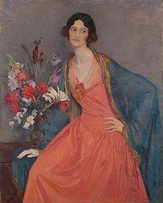 George LAMBERT   Hera. 1924.  Hera Roberts, Australian artist.