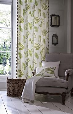 Create a relaxing corner in your room and liven it up with ferns from our Paradise collection... www.prestigious.co.uk/collections/paradise