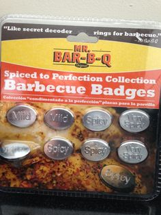 Barbecue Badges BBQ Meat Markers Cooking Labels Cookout Tags NEW! Mild Spicy  #MrBarBQ
