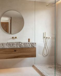 Home Interior Boho OD House - Jorge Bibiloni Studio.Home Interior Boho OD House - Jorge Bibiloni Studio Bad Inspiration, Bathroom Inspiration, Niche Decor, Wall Decor, Nautical Bathroom Decor, Colorful Bathroom, Bathroom Colours, Cheap Bathrooms, Bathroom Interior Design