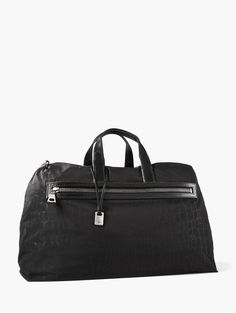 JOHN VARVATOS Croc-Printed Nylon Duffle - BLACK. #johnvarvatos #bags #shoulder bags #hand bags #nylon #lining #