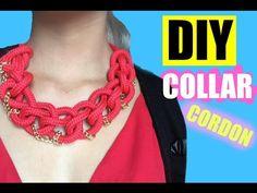 DIY maxi collar cordón - YouTube