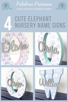 These cute elephant wood monograms make the perfect gift for a mom to be or new mom.  Just select the color that complements her nursery decor for the most personal gift you can give #newmomgift #momtobegift #newbaby #newborn #babygift #uniquebabygift #baby #nursery
