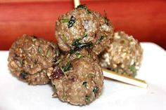 I love meatballs. They are perfect for kids and perfect for adults. I make them and use them in a tomato gravy or serve them as finger food at parties with various dips.
