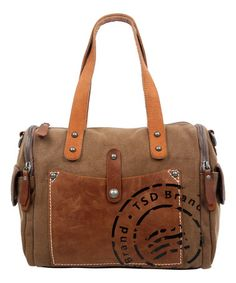 This Brown Super Horse Satchel is perfect! #zulilyfinds