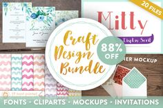 Craft Design Bundle (88% off) by Webvilla on Creative Market