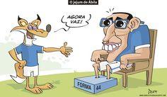 Charge do Dum (Zona do Agrião) sobre o jejum de Ábila (27/09/2016) #Charge #Dum #Cruzeiro #Ábila #Wanchope #HojeEmDia