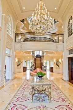 Entry - Everything about this is breathtaking from the chandelier to the intricate tile. Opening the door and seeing this would truly be a dream. #PinScheduler http://mbsy.co/tailwind/18956
