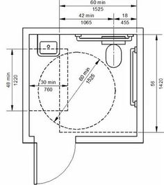 Floor Plans For a Public Handicap Bathroom - Yahoo Image Search Results