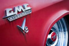 GMC Images by Jill Reger - Images of GMCs - 1957 Gmc V8 Pickup Truck Gmc Hydra-matic Emblem