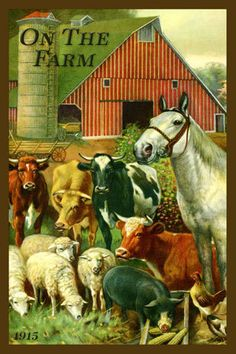 Olde America Antiques | Quilt Blocks | National Parks | Bozeman Montana : Agriculture and Farming - On The Farm