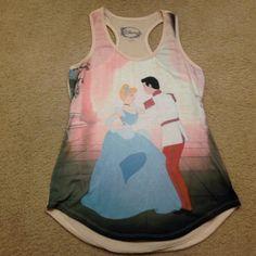 Like new Disney Cinderella tank top Super cute like new Disney Tops Tank Tops