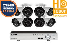 Camera system with 8 channel DVR and 8 outdoor security cameras Dvr Security System, Surveillance System, Dvr Camera, Security Camera, Cameras, Channel, Projects, Outdoor, Backup Camera