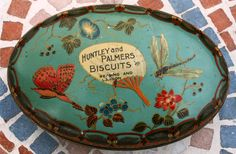 Rare Huntley & Palmer's 'Cloisonne' tin 1908