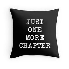 A beautiful pillow for book lovers that will liven up and add character to any space. Features a unique typewriter font. Original artwork by