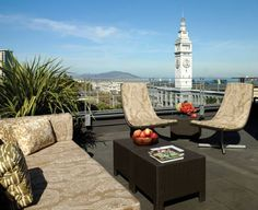 Hotel Vitale, a Joie de Vivre Hotel (8 Mission Street) Overlooking San Francisco's scenic waterfront, this hotel features an outdoor rooftop terrace, first-class amenities, luxurious accommodation and numerous services and facilities. #bestworldhotels #travel #us #sanfrancisco