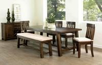 URBAN STYLES A-820 - The new Vintage collection includes this rustic dining table and chairs. The table is accented with grooves and saw marks to create a vintage lumber look. Featured in the July 29, 2013, Issue of Furniture Today.