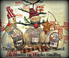 """Painting With Friends E Pattern - """"Simple Gifts Snowmen"""""""