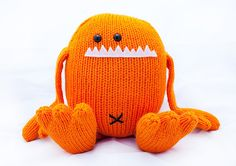 Harold the Hand Knit Stuffed Monster Toy by AllStuftUp on Etsy, $46.00
