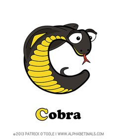 Cobra - Alphabetimals make learning the ABC's easier and more fun! http://www.alphabetimals.com