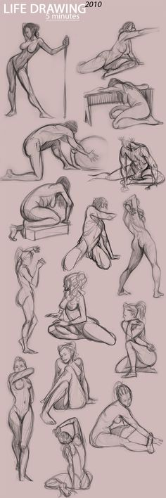 life drawing, anatomy, poses