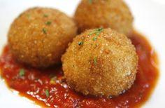 Risotto Croquettes with Sundried Tomato Pesto