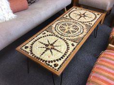 Mosaic table with hairpin legs Hairpin Legs, Hair Pins, Mosaic, Rugs, Retro, Table, House, Home Decor, Hair Rods