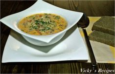 A mixture of food, sweets, feelings and thoughts Cheeseburger Chowder, Thai Red Curry, Avocado, Soup, Erika, Ethnic Recipes, Pie, Lawyer, Soups