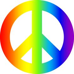 free clip art of a rainbow peace sign with hearts stars and rh pinterest com peach clip art pictures peach clip art free