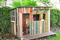 how to build a pallet playhouse - Google Search