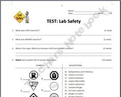 lab safety review worksheets 6th 8th grade pinterest lab safety worksheets and safety. Black Bedroom Furniture Sets. Home Design Ideas