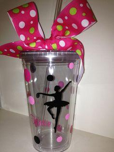Personalized Dance Acrylic Tumbler by DancingWorkbench on Etsy, $9.95