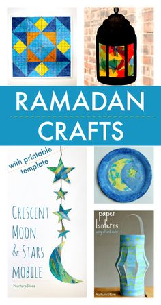 """"" Easy Ramadan crafts for children – NurtureStore """" easy ramadan crafts for children, eid crafts for kids """" Arts And Crafts For Adults, Easy Arts And Crafts, Arts And Crafts House, Arts And Crafts Projects, Easy Diy Crafts, Crafts For Kids, Children Crafts, Preschool Crafts, Fun Projects"
