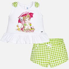 39f66060e Baby girl shirt and shorts set Pistachio - Mayoral. Moda InfantilRopa BebePrimavera  VeranoVerdeComprarCamisas Para NiñasPistachos