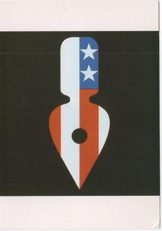 Logo for Graphics Arts USA Tom Geismar SIXTIES DESIGN  ART POSTCARD TASCHEN