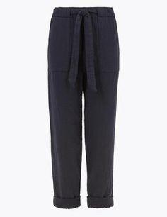 M&S Per Una Pure Cotton Tapered housut - Sokos verkkokauppa Sweatpants, Pure Products, Cotton, Fashion, Moda, Fashion Styles, Sweat Pants, Fasion